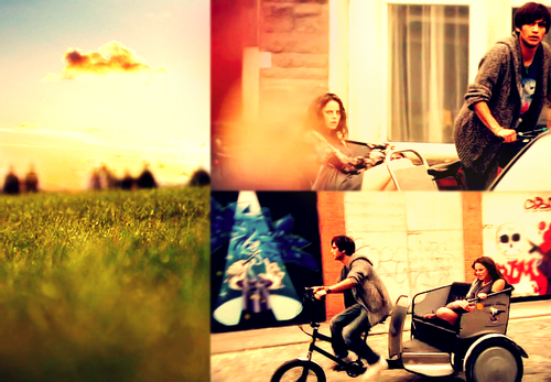 Freddie & Effy wallpaper possibly with a street, a velocipede, and a bicycle titled Freffy ♥