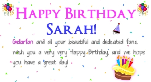 Happy Birthday Sarah!