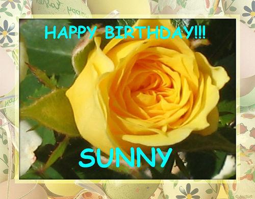 Happy Birthday Sunny <3