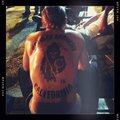 Jax's back and tatuajes