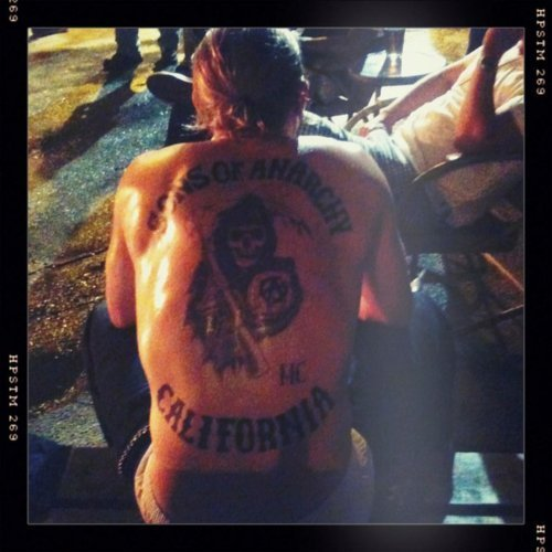 Jax's back and tatuagens