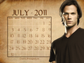 July 2011 - Sam (calendar) - sam-winchester wallpaper