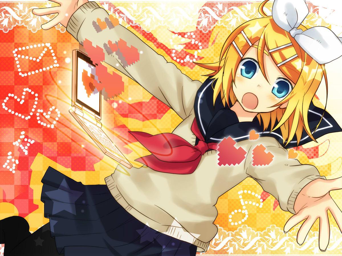 Vocaloid Wallpaper Rin Rin Kagamine im...