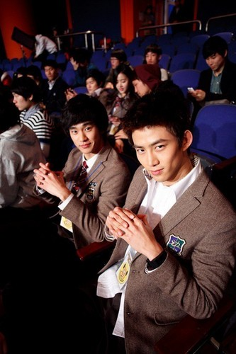 Kim Soo hyun and Taecyeon