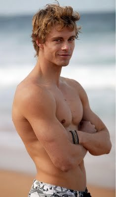 Hottest Actors wallpaper with a six pack, a hunk, and swimming trunks titled Luke Mitchell-Sexy