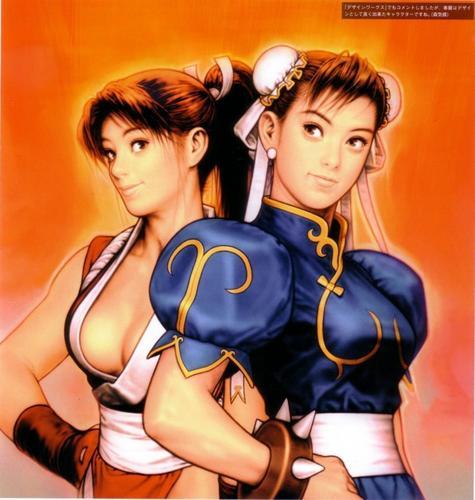 Mai Shiranui and Chun-Li