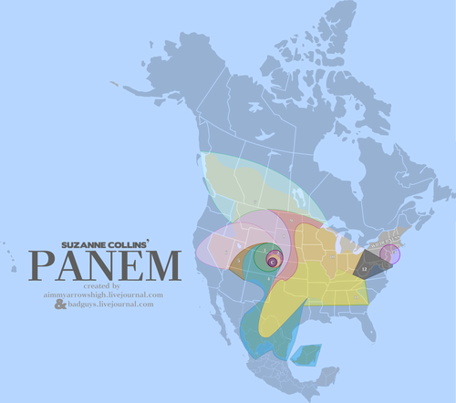 A Popular Map of Panem