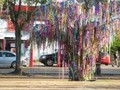 Mardi Gras bead tree