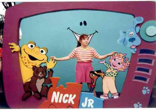 Old School Nickelodeon wallpaper probably with anime titled Me and Face at Universal Stuidos in 1998