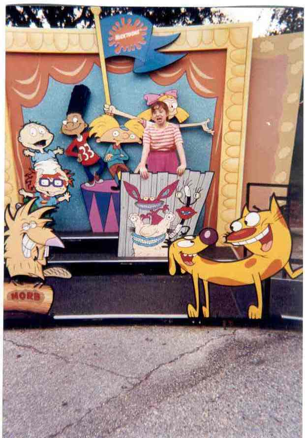 Me and the Nicktoons at Universal Stuidos in 1998