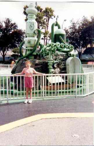 Me and the slime machine at Universal Stuidos in 1998