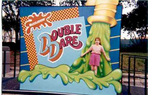 Old School Nickelodeon پیپر وال called Me getting slimed at Universal Stuidos in 1998