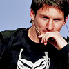 Lionel Andres Messi photo probably with a leisure wear and a portrait entitled Messi@