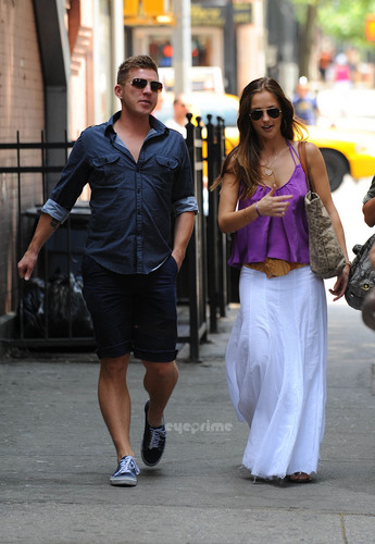 Minka Kelly is seen leaving a starbucks in New York, May 28