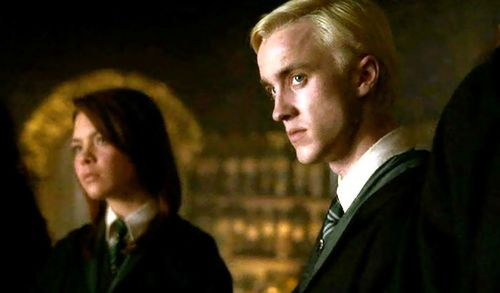 Pansy Parkinson with Draco Malfoy
