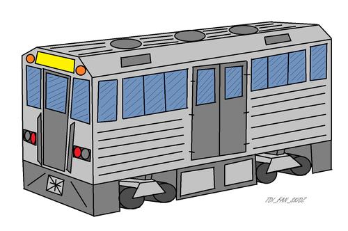 Paper Transformers autobot RailRider/subway car mode