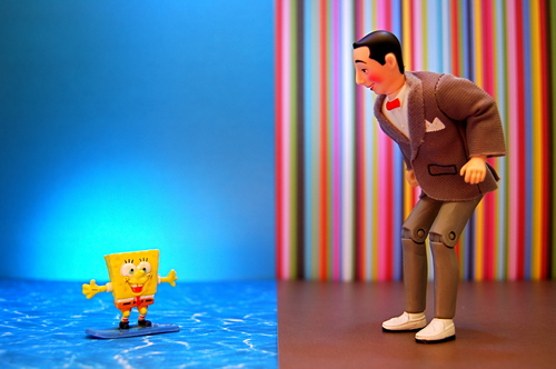 Pee Wee And SpongeBob