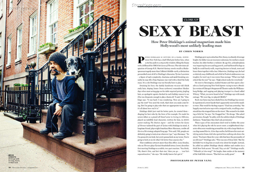 Peter Dinklage – in Rolling Stone Magazine