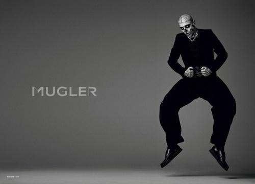 Rick Genest Mugler ads