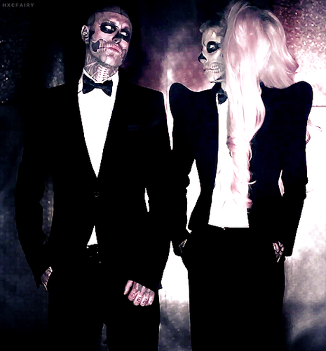 Rick Genest and lady Gaga