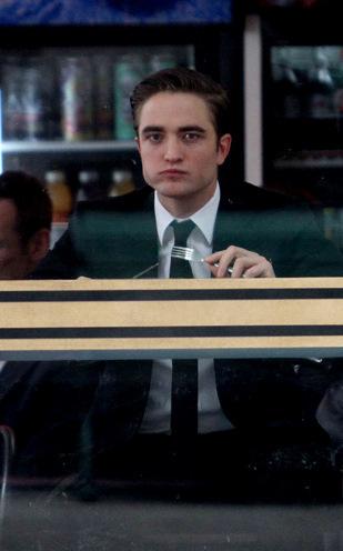 Robert Pattinson on the set of Cosmopolis in Toronto!