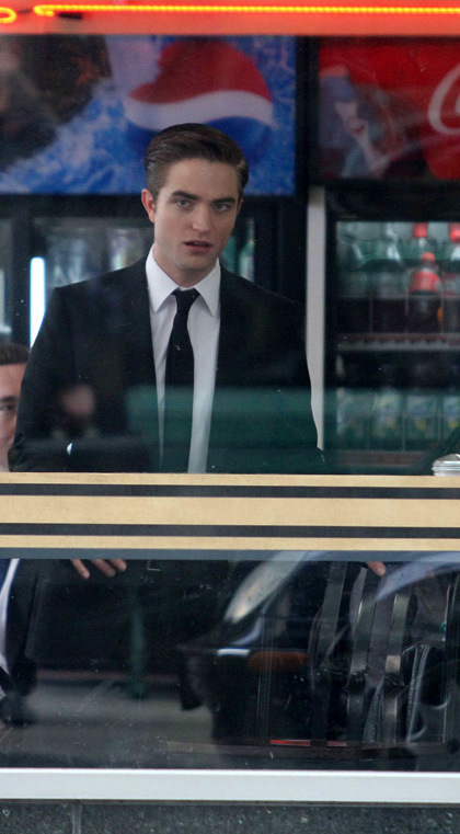 Robert Pattinson on the set of Cosmopolis in Toronto!