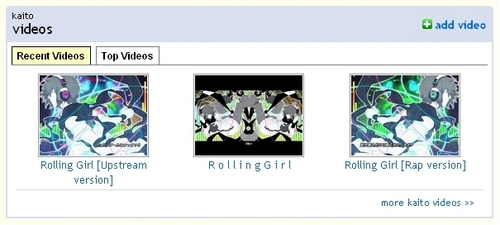 KAITO wallpaper titled Rolling Girl Trilogy