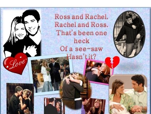 Friends wallpaper with anime entitled Ross + Rachel 4 ever xXx