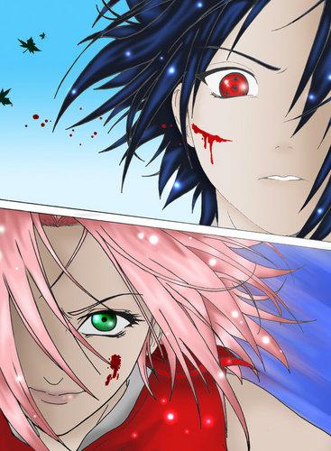 Sakura vs Sasuke