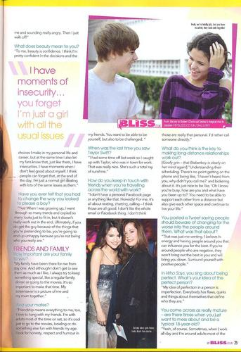 Selena - Magazines & Scans - Bliss - June/July 2011