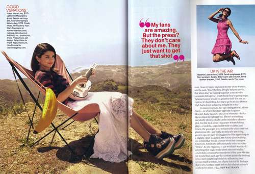 Selena - Magazines & Scans - Teen Vogue - June/July 2011