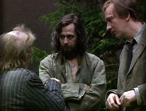 Sirius Black with Remus Lupin and Wortmail