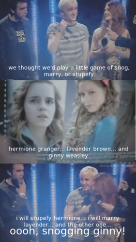 Snog, marry, stupefy