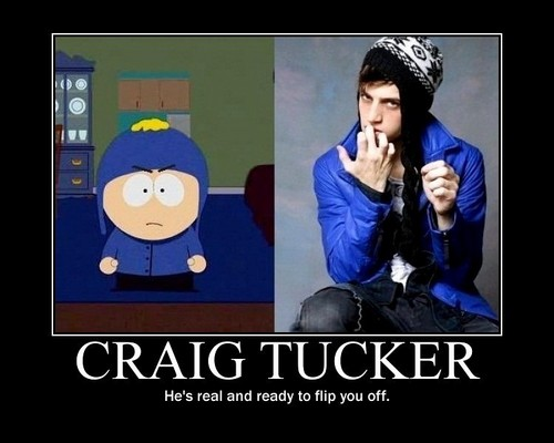 সাউথ পার্ক দেওয়ালপত্র possibly with a well dressed person titled South Park Real Life Craig