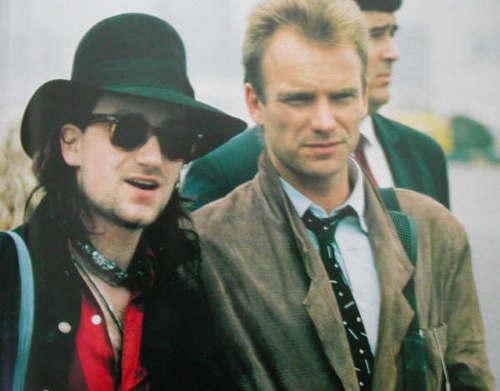 Sting and Bono