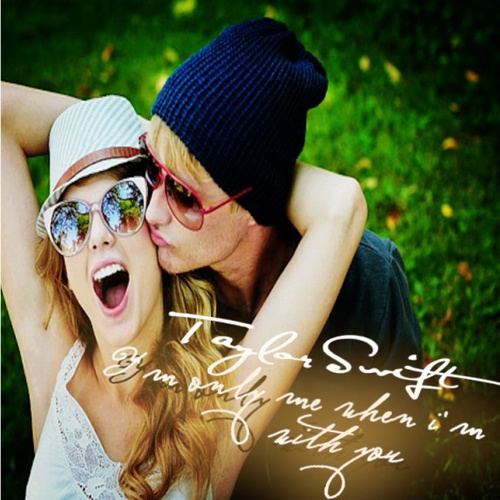 Taylor schnell, swift - I'm Only Me When I'm With Du single cover --Fanmade--