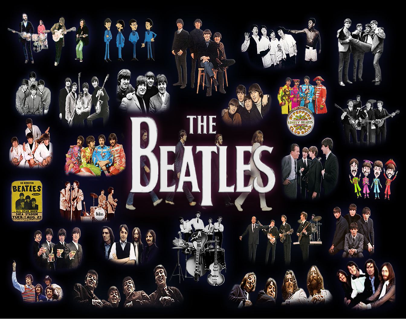 The Beatles Images Collage HD Wallpaper And Background Photos