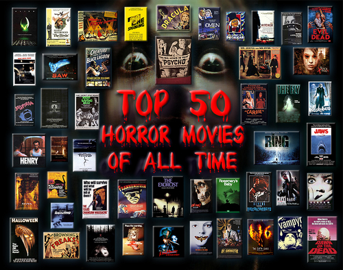 Horror films achtergrond titled top, boven 50 Horror films of All Time