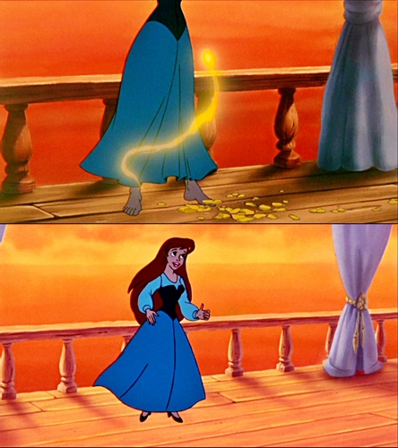 Walt disney Mistakes - Where did the shoes come from..?