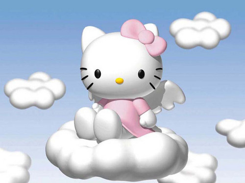 hello kitty in the clouds!!!