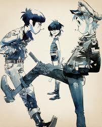 2d murdoc and Cyborg Noodle
