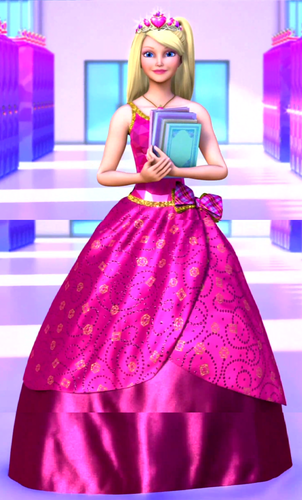 Barbie Movies wallpaper possibly containing a hoopskirt, a ball gown, and an overskirt called 3 Images of Blair from the Trailer = Full Blair!