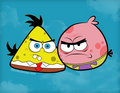 Angry Birds Meet's SpongeBob & Patrick - happy-square-sponge fan art