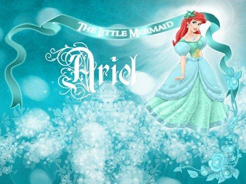 Ariel in green dress