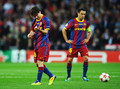 Barcelona Return trang chủ Victorious With Champions League Trophy (Lionel Messi)