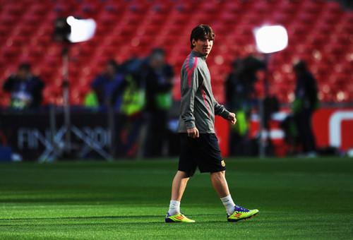 Barcelona Training & Press Conference - UEFA Champions League Final  (Lionel Messi)
