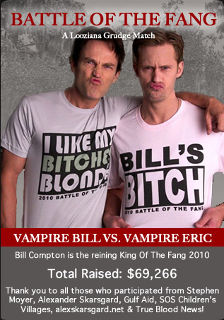 True Blood wallpaper with anime entitled Battle of the Fang Bill v Eric t-shirts
