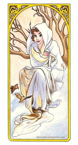 Belle for Winter Based Off of Alphonse Mucha's Seasons