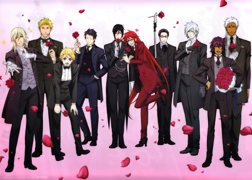 Kuroshitsuji wallpaper probably containing a business suit entitled Black butler