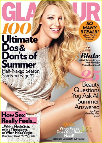 Blake Lively Covers 'Glamour' July 2011